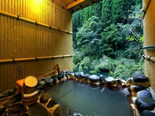 hot hydrogen carbonate spring in Kyushu