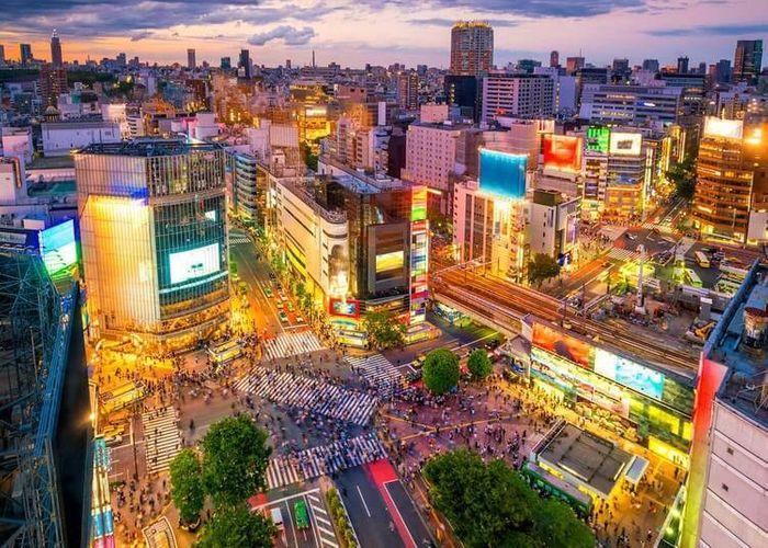 東京澀谷十字路口