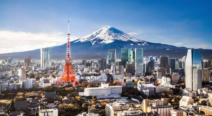 Japan Tokyo Fuji Mountain Tokyo Tower